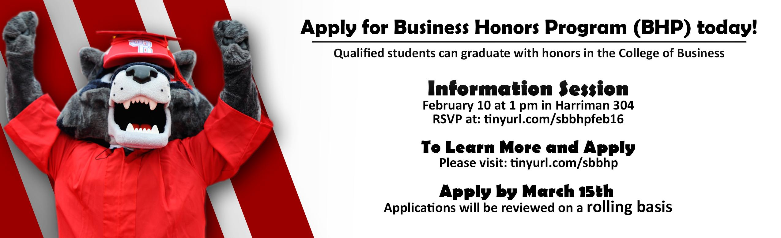 Apply for Business Honors Program (BHP) Today!