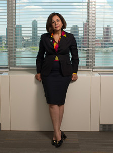 5-6-14---Atefeh Riazi, Assistant Secretary-General, Chief Information Technology Officer, Office of Information and Communications Technology poses in her office at the United Nations.