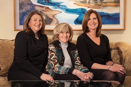 Stony Brook University Professor Ellen Pikitch, her mother Ruth Pikitch and sister Susan Pikitch.